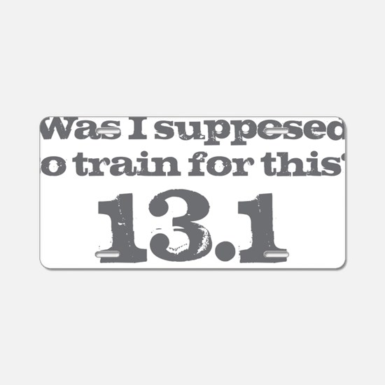 Train for This Aluminum License Plate