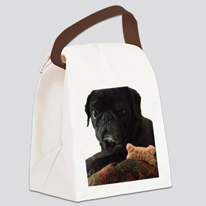 Onyx the Pug Canvas Lunch Bag