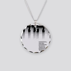 YHWH Gradient Necklace Circle Charm
