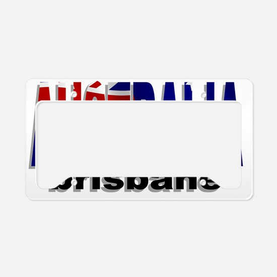 Australia Brisbane License Plate Holder