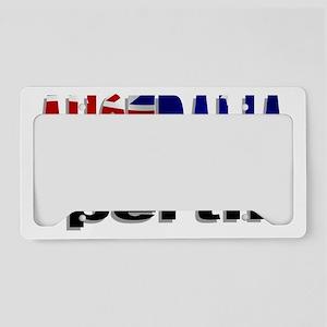 Australia Perth License Plate Holder