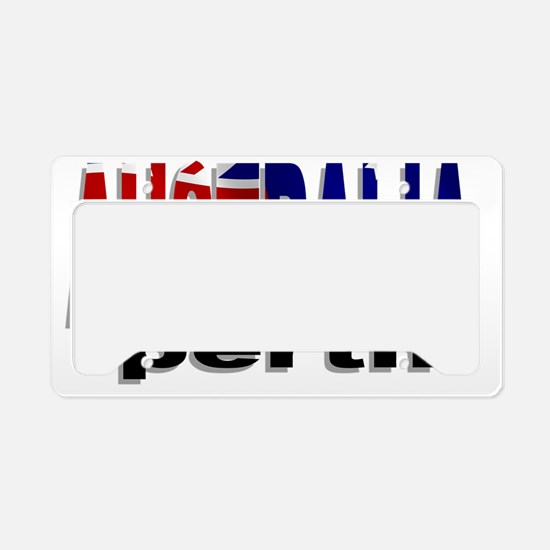 Australia Perth License Plate Holder