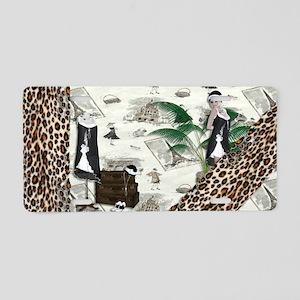 Gatsby in Paris Thin Aluminum License Plate