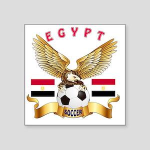 "Egypt Football Designs Square Sticker 3"" x 3"""