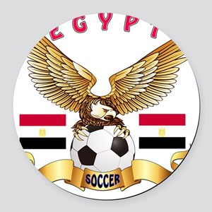 Egypt Football Designs Round Car Magnet