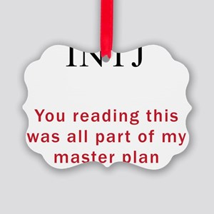 INTJ Plan Picture Ornament