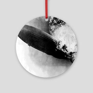 Hindenburg Burning Round Ornament