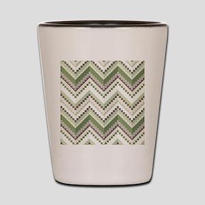 Green Native Pattern Shot Glass