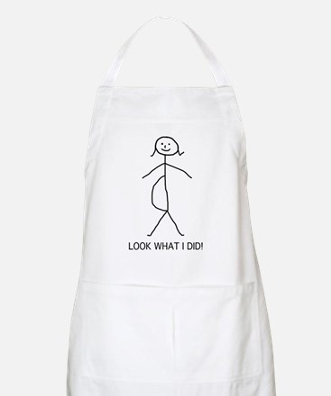 Look what I did pregnancy BBQ Apron