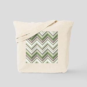 Green Native Pattern Tote Bag