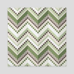 Green Native Pattern Queen Duvet
