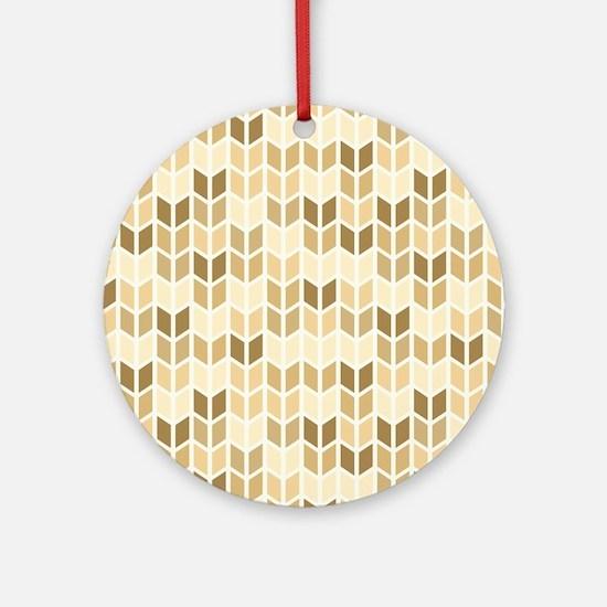 Cute Geometric Pattern Round Ornament