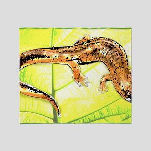 Black Mountain Salamander Throw Blanket