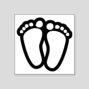 """Precious Feet Square Sticker 3"""" x 3"""""""