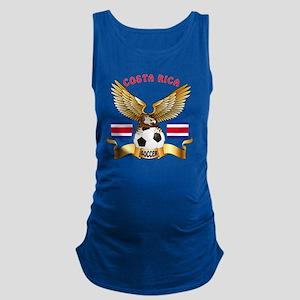 Costa Rica Football Designs Maternity Tank Top