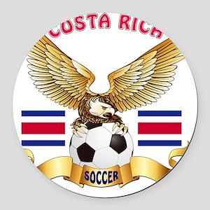 Costa Rica Football Designs Round Car Magnet
