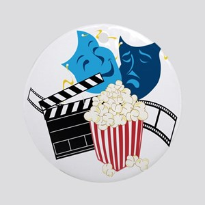 Movie Lover Round Ornament