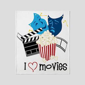 I Love Movies Throw Blanket