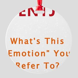 ENTJ Emotion Round Ornament