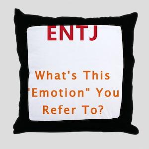 ENTJ Emotion Throw Pillow