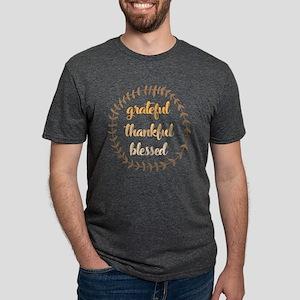 Grateful Thankful Blessed Mens Tri-blend T-Shirt