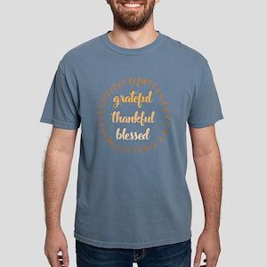 Grateful Thankful Blesse Mens Comfort Colors Shirt