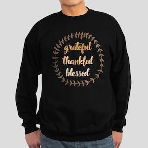Grateful Thankful Blessed Sweatshirt (dark)
