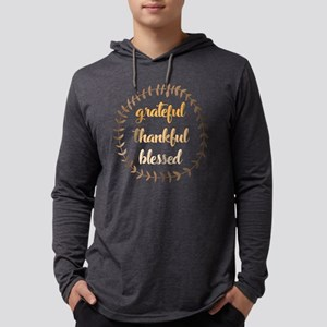 Grateful Thankful Blessed Mens Hooded Shirt