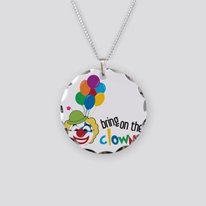 Bring On The Clowns Necklace Circle Charm