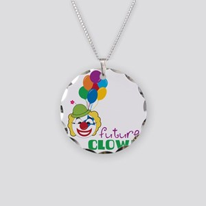 Future Clown Necklace Circle Charm