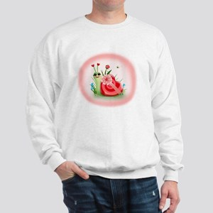 Candy Shell Snail Heart (txt) Sweatshirt