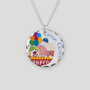 Circus Clown Necklace Circle Charm