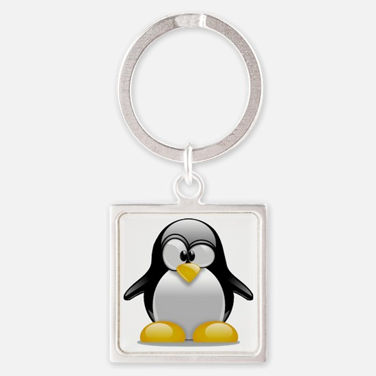 Tux the Penguin Square Keychain