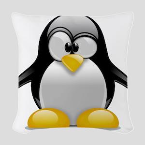 Tux the Penguin Woven Throw Pillow