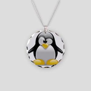 Tux the Penguin Necklace Circle Charm