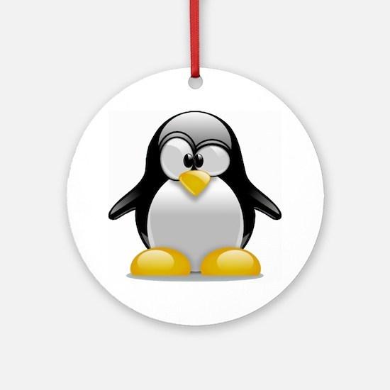Tux the Penguin Round Ornament