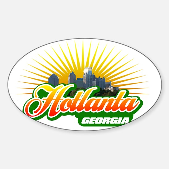 Hotlanta Georgia Sticker (Oval)