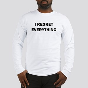 RON SWANSON REGRET Long Sleeve T-Shirt