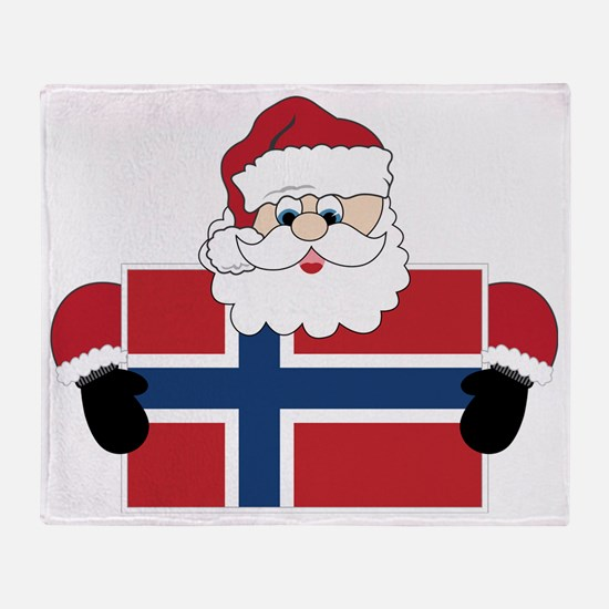 Santa In Norway Throw Blanket