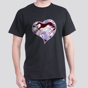 Valentine Hounds Purple Pink Brown Dark T-Shirt