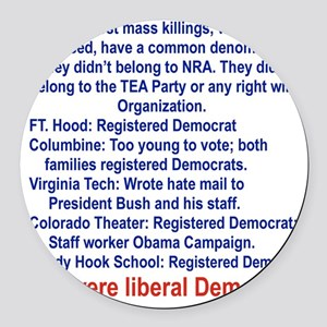 ALL WERE LIBERAL DEMOCRATS... Round Car Magnet
