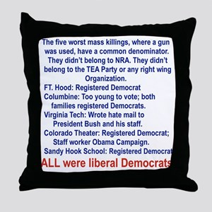 ALL WERE LIBERAL DEMOCRATS... Throw Pillow