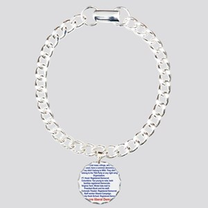 ALL WERE LIBERAL DEMOCRA Charm Bracelet, One Charm