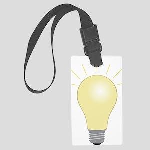Light Bulb Large Luggage Tag
