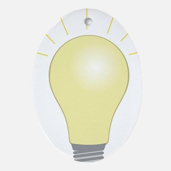 Light Bulb Oval Ornament
