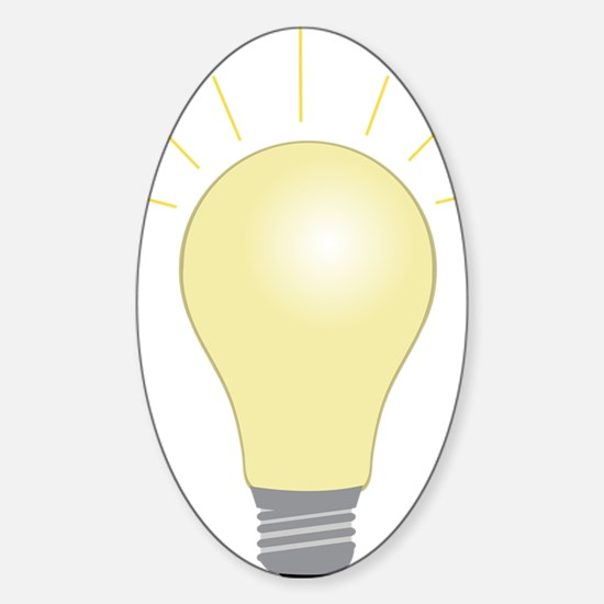 Light Bulb Sticker (Oval)