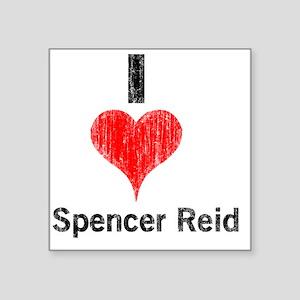 "Vintage I Heart Spencer Rei Square Sticker 3"" x 3"""