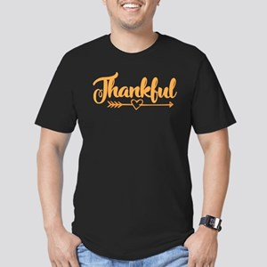 Thankful Men's Fitted T-Shirt (dark)