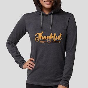 Thankful Womens Hooded Shirt