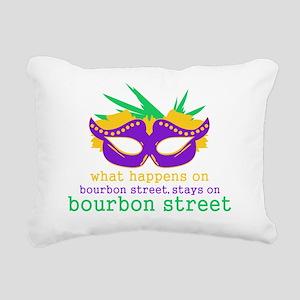 What Happens on Bourbon  Rectangular Canvas Pillow